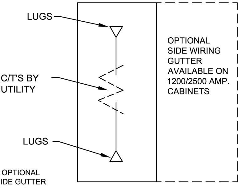 current transformer cabinet 400a 4000a wall mount on erickson one line diagram